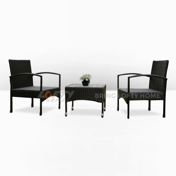 Picture of Classic Dark Wicker Patio 3 Piece Set