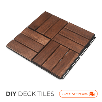 Picture of Natural Acacia Checker Decking Tiles