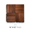 Picture of Natural Acacia Checker Decking Tiles