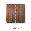 Picture of Natural Acacia Parallel Decking Tiles