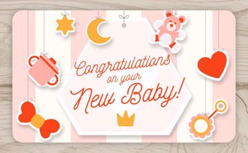 Picture of Congratulations on your New Baby!