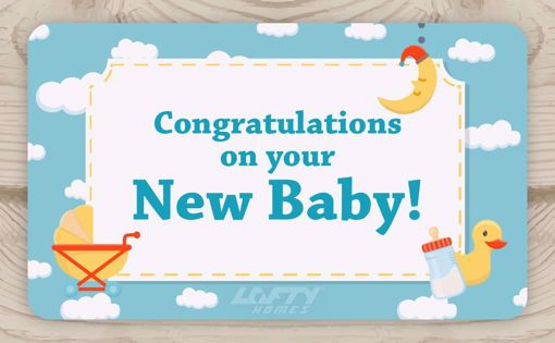 Picture of Congratulations on your New Baby! Cloud 9