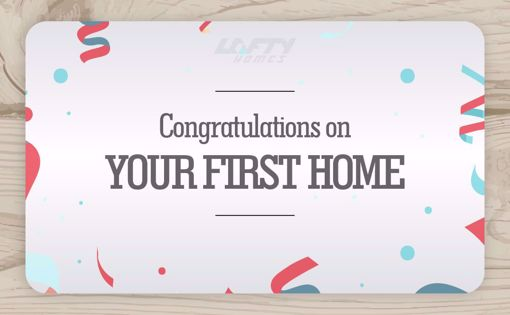 Picture of Congratulations on Your First Home - Confetti