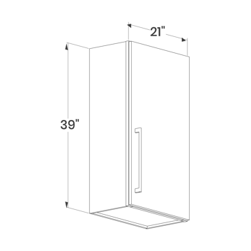 Picture of Maple Raised Panel - W2139 (1Dr)