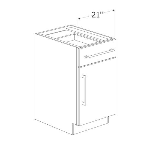 Picture of Maple Raised Panel - B21 L/R (1DR)