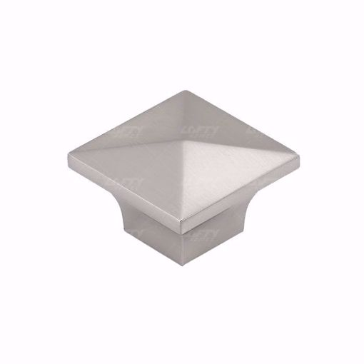 Picture of Modern Metal Brushed Nickel Knob - 5308