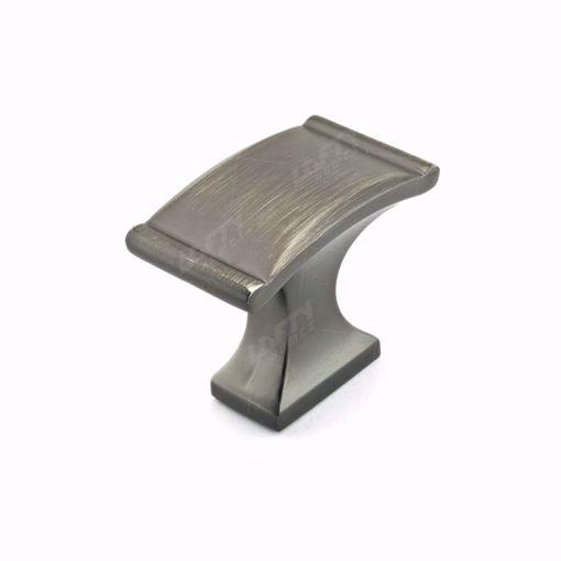Picture of Traditional Metal Antique Nickel Rectangular Knob - 2606