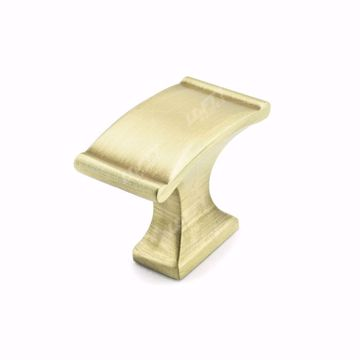Picture of Traditional Metal Satin Brass Rectangular Knob - 2606