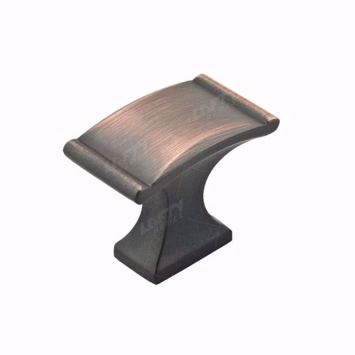 Picture of Traditional Metal Brushed Oil-Rubbed Bronze Rectangular Knob - 2606