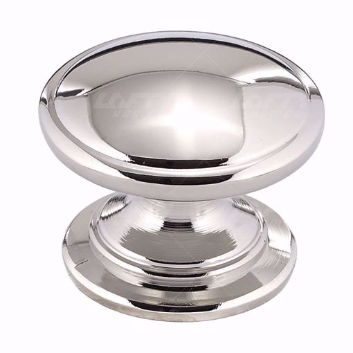 Picture of Traditional Metal Polished Nickel Knob - 8098