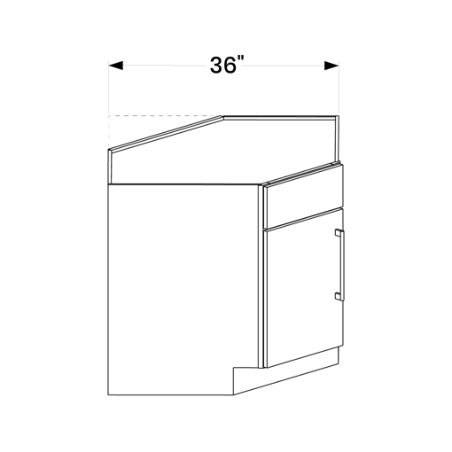 "Picture of White Shaker - Corner Sink Base 36"""