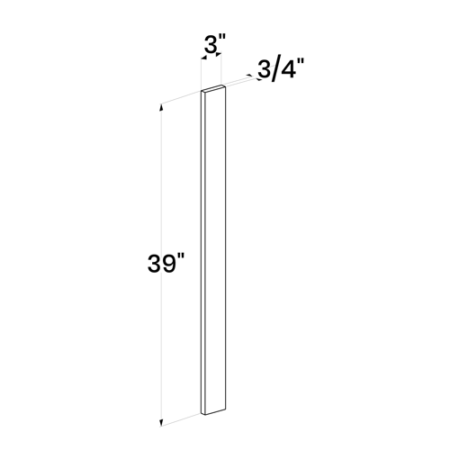 "Picture of White Shaker - Wall Filler 3""W, 39""H"