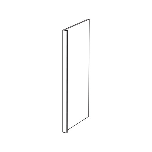 Picture of White Shaker - Refrigerator End Panel